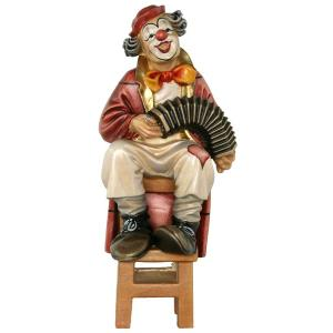 Clown mit Harmonika